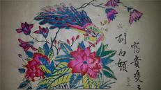 杨家埠木版年画版画大全之053*富贵双双到白头