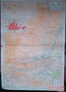 民国地图1张:《陕西》【从《申报》1939年出版的《中国分省地图》中拆下来的,有如图污迹】