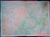 民国地图1张:《黑龙江》【从《申报》1939年出版的《中国分省地图》中拆下来的,有如图污迹】