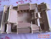 北京四合院——木片对接艺术品