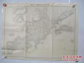 旅顺半岛作战一览图  应为清代 有水师营的字眼 黑白印制 地图1幅 尺寸80*61厘米