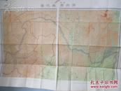 满洲国舆图百万之一  四张拼一起昭和8年1933年 彩色印制 地图4幅尺寸108*312厘米