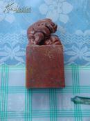 漂亮朱砂冻貔貅印章石
