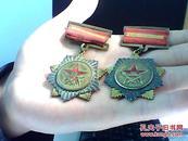 全国人民慰问人民解放军代表团赠 1954年 纪念章(2枚合售)