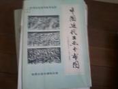 中学历史教学参考挂图:中国近代工业分布图(十九世纪六十--九十年代) 一版一印 有外封