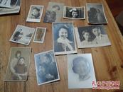 2320:民国至50年底穿旗袍美女及其他美女老照片 11张