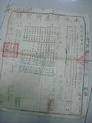 1951年岳西县菖蒲潭区岩上乡第五组刘家岭)土地房产所有证---县长李正乾---