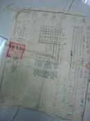 1951年安徽省岳西县菖蒲潭区岩上乡第五组上泥潭)土地房产所有证----县长李正乾-