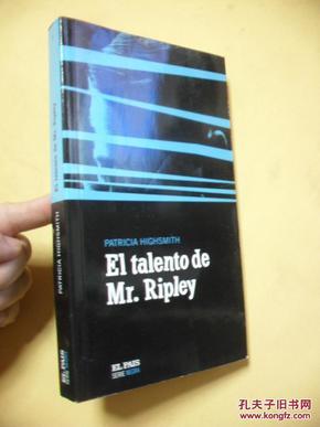 西班牙文原版    <天才里普利先生>  El talento de mr. ripley.Patricia Highsmith