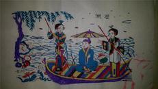 杨家埠木版年画版画大全之126*白蛇传故事游湖