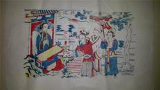 杨家埠木版年画版画大全之129*白蛇传故事拜塔