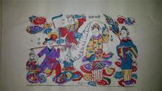 杨家埠木版年画版画大全之132*天仙配故事天河相隔