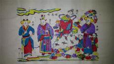 杨家埠木版年画版画大全之133*天仙配故事七月七