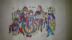 杨家埠木版年画版画大全之116*三国故事回荆州