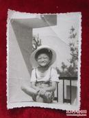 文革时期儿童黑白老照片一张