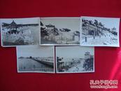 老照片】老青岛风景老照片一组5张(青岛栈桥  、青岛海水浴场等)