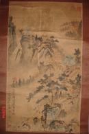民国或解放初,老山水画一幅,旧裱,作者请自鉴