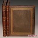1855年CAROLSFELD _Die Bibel in Bildern《圣经木版画集》极珍贵卡尔斯菲尔德原品木刻版画初版 巨大全摩洛哥羊羔皮精装2册全 240张原品版画 品相佳