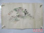 曹克家    国画扇面作品一幅    尺寸56*20厘米