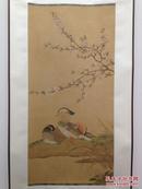 朵云轩木版水印《宋人桃花鸳鸯图》轴