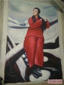 精美手工绘画书画人物油画绣布画字画艺术画(90x60cm)5