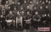1949年,长袍马褂换成军装的年代,【嘉兴市】腰鼓队欢送,【大、品相好、高清】