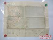 上海  大正15年1926年 彩色印制 地图一幅 尺寸46*57厘米