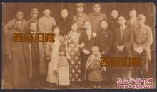 民国官宦之家结婚合影,稀见的东西【21*11.5CM】大幅照片