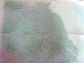 江苏省地图 2开(另面南京、无锡、苏州三市区图)