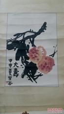 广东著名花鸟画家甘谷国画