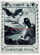 """""""德国艺术家""""(R Meyer)铜版藏书票—《海边的裸女 初升的太阳》"""