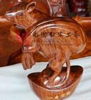 铁梨木原木  雕鼠工艺品,木雕刻鼠摆件