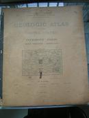 1896年《美国地质地图集》外文原版大开本