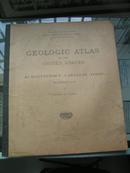 1911年《美国地质地图集》外文原版大开本