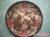 清代传世漆器助手人物果盘收藏