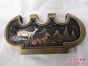 铜器黄铜文房用品笔架、墨香书院