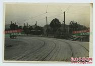 民国时期东北辽宁大连老建筑街道街景老照片。12.7X8.5厘米