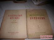1955年-广东省统计局编[基本建设统计讲义+基本建设统计讨论题解答]2册合售