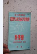 1990泰山电视杯全国青年古典式自由式摔跤锦标赛 秩序册