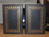 《白鲸》即《莫比·迪克》美国著名小说家赫尔曼·麦尔维尔著,相当珍贵的两卷集 孔网孤品,富兰克林1983年真皮精装限量版三面刷金 英文原版 现货包邮