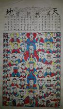 杨家埠木版年画版画大全之164*万神朝礼45*68cm
