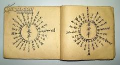 风水 罗盘图 清代毛笔抄画本 从甲子至癸亥60花甲图(前缺甲子 丙寅二年的)