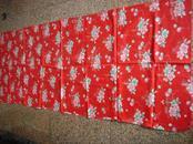文革褥面503、人民大会堂、建筑、气球、红旗、花卉等中间,规格200-76CM,95品。
