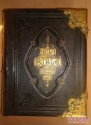 1870年《神圣经典》超大全摩洛哥大丘纹羊皮精装 大量精美钢版画 绝美珂罗版石版画彩图 品相绝佳