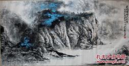 《蜀江云岭尽朝晖》四川青年画家吴卡平四尺整纸精品山水