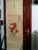 中国当代著名书画名家:潘明生--精品国画《钟馗神威图》一副(原裱,立轴,画心尺寸:87CM*46.3CM)【货号:D】作品终生保真。