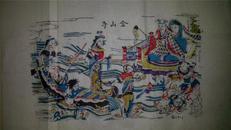 杨家埠木版年画版画大全之128*白蛇传故事金山寺