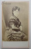 19世纪末法国贵族小姐CDV蛋白照片美女老照片珍贵历史影像