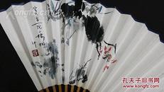 ◆独家特供◆文玩雅品 ◆◆中国国家画院张江舟工作室画家@刘@帅双面书画成扇一把一一映日荷花别样红。
