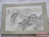 韩桓柱作 80年代  手绘国画一幅  长城初秋 尺寸30/20厘米